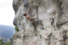 Rock Climbing Photo: Romania- Brasov- the training rock above the city.
