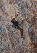 Rock Climbing Photo: Allen starting up Corn on the Cobble (5.11)