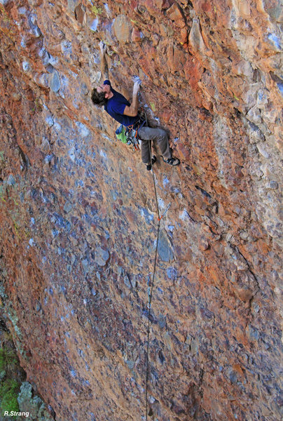 Rock Climbing Photo: Going from Steep to STEEPER!  Allen Riling at the ...