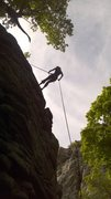Rappelling down Nupital Vow