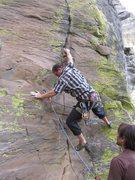 Rock Climbing Photo: Will Wallace on the start of Lorraine.