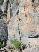 Rock Climbing Photo: Ben on the Pod of God.