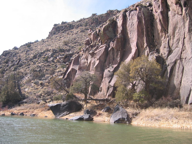 Rock Climbing Photo: Right facing corner between trees