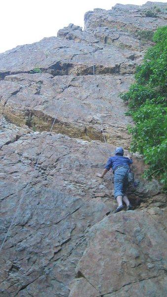 Rock Climbing Photo: A beginner top roping up War Clamor