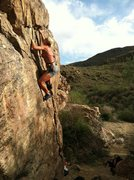 "Rock Climbing Photo: Kristina almost to the top of ""Upper Hand Rai..."