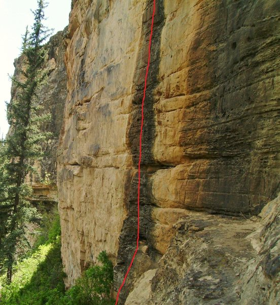 "Winning Streak (5.11c.  Also see the beta photo for ""Refuse To Suffer."""