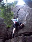 Rock Climbing Photo: Ben Botelho on Fast and Furious(5.8), Beer Walls, ...