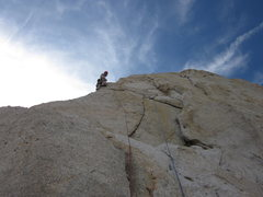 Rock Climbing Photo: Alternate 5.7 route to the left of the chimney, th...