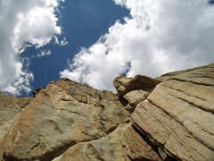 Rock Climbing Photo: Mike C. and Doug D. on the Central Chimney.  Twin ...