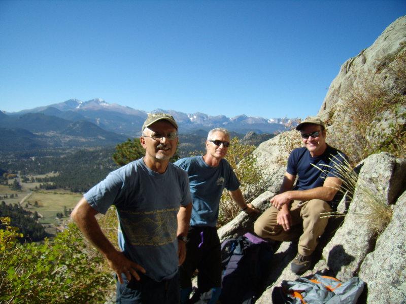 Mike C. Doug D. and Bill D. Lumpy Ridge 9-25-11