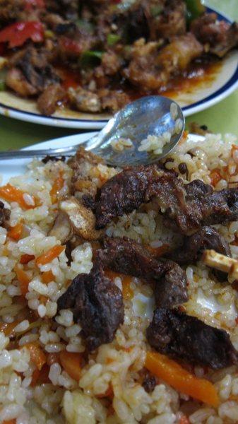 Rock Climbing Photo: ahh.....Uyghur food (Xinjiang province flavors)!