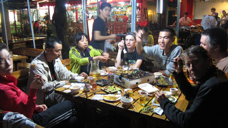 What a great group; end of the day after climbing at HeMing Shan ...an hour west outside of Chengdu, Sichuan.