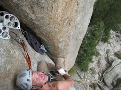 Rock Climbing Photo: Enjoying the lounge and the view.  Top of the firs...