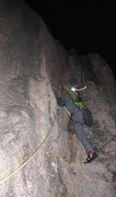 Rock Climbing Photo: This was challenging; more amazing in the dark...