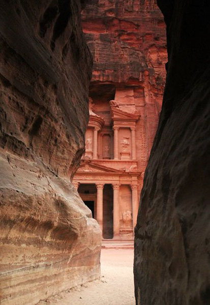 Petra; The Treasury. Ridiculously ancient sandstone that had very different texture than what I have seen/felt in Mali, Red Rock, Zion (these 3 places seem to have more in common as weird as it seems).