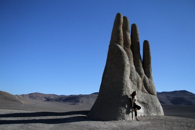 Rock Climbing Photo: A sculpturist created this in the middle of everyw...
