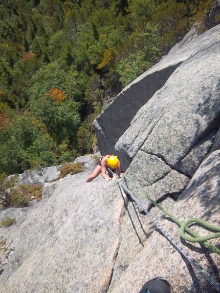 Rock Climbing Photo: Melissa Feldmann works her way around the classic ...