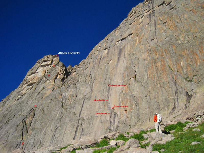Rock Climbing Photo: Eastern Roofs is shown on the left. On the main ea...