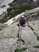 Rock Climbing Photo: Following up pitch 1.