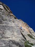 Rock Climbing Photo: Jason heading up pitch 2.