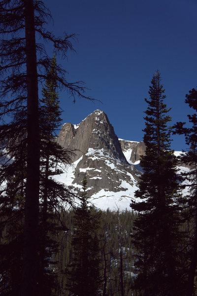 Rock Climbing Photo: Aiguille de Fleur as seen on an approach to the We...