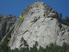 Rock Climbing Photo: Popular routes.