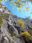 Rock Climbing Photo: Starting up P1 of Quadrophenia(5.7+), Hurricane Cr...