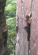 Rock Climbing Photo: On Birch Tree Crack, 5.8