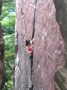 Rock Climbing Photo: Caroline Lutz on Birch Tree Crack