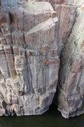 Rock Climbing Photo: Shane on Superman