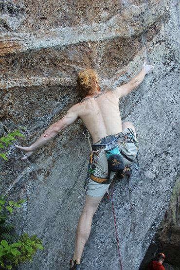 Rock Climbing Photo: Slab Climbing!