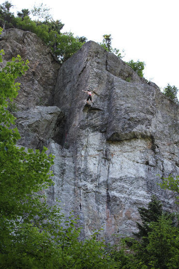 Rock Climbing Photo: Tom Z. whipping off the crux on P2
