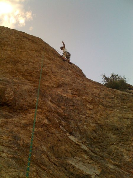 Rock Climbing Photo: Me lowering off after the second ascent