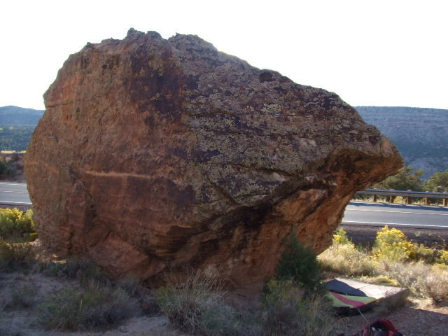 Rock Climbing Photo: Lavoe Boulder overhang.