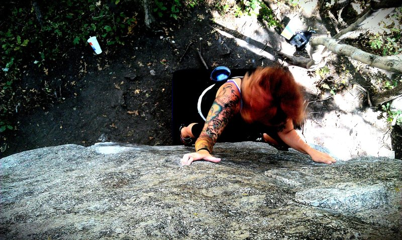 Rock Climbing Photo: This is a super easy slab, and definitely fun for ...