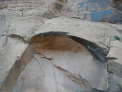 Rock Climbing Photo: Bad picture. Sorry. But it shows the fixed draws a...
