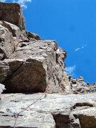 Rock Climbing Photo: Dave climbing near the wasps.