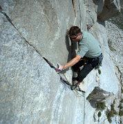 Rock Climbing Photo: Austin Archer on pitch 1 of Moment of Zen.