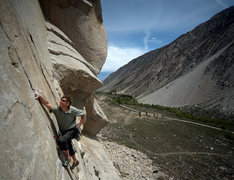Rock Climbing Photo: Austin Archer on pitch 1 of Moment of Zen