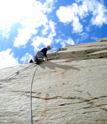 Rock Climbing Photo: Rick Ziegler on the first ascent of Workingman's A...