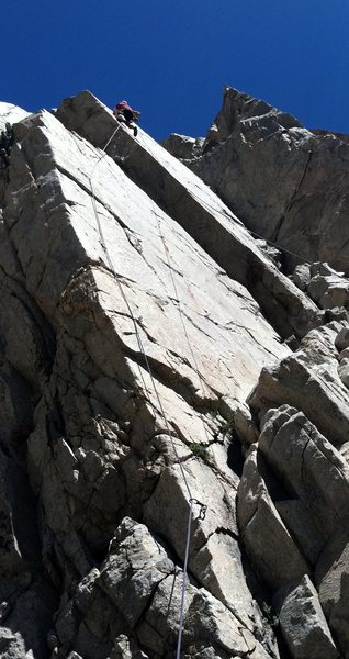 Rock Climbing Photo: Sheep on the Wings.  Great edging on a clean arete