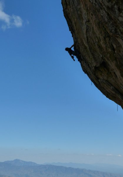 Rock Climbing Photo: Matt S. Enjoying the wonderful exposure
