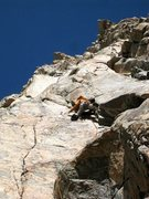 Rock Climbing Photo: The first pitch of Hard to Say. Photo by D. MacDon...