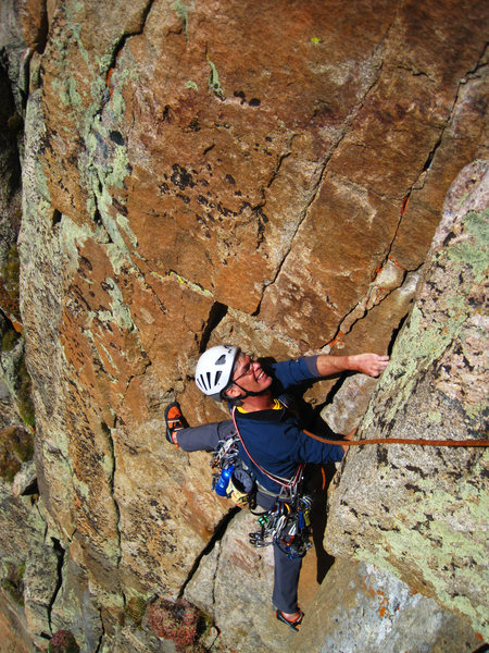 Rock Climbing Photo: Finishing the 1st pitch of Hard to Say.