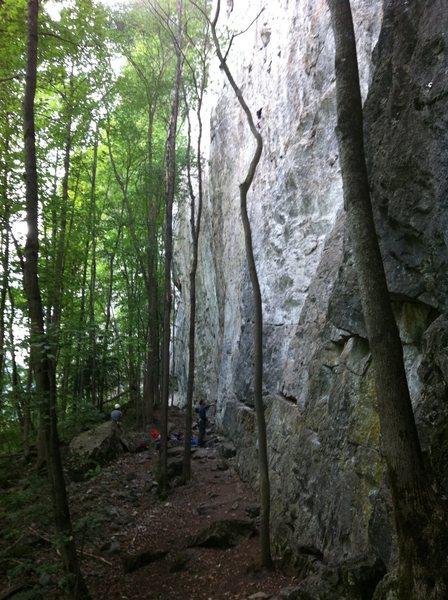 Rock Climbing Photo: Lungern wall