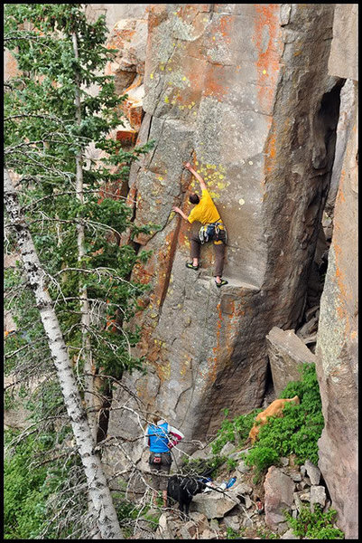 Rock Climbing Photo: Clipping the second bolt is in your face and awkwa...