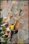 Rock Climbing Photo: Body tension and reach capabilities are important....