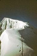 Rock Climbing Photo: Dave Koch on the summit ridge 1984