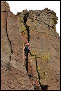 Rock Climbing Photo: A fun climb that requires varying trad techniques....