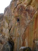Rock Climbing Photo: Moving past the small wire placements, what a fun ...